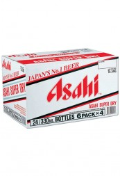B-000007-Asahi-Asahi Super-Dry-Beer, 330ml-Pint-Bottle-X-24-Bottle